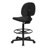 Black Patterned Fabric Drafting Chair (Cylinders: 22.5''-27''H or 26''-30.5''H) - OfficeChairCity.com