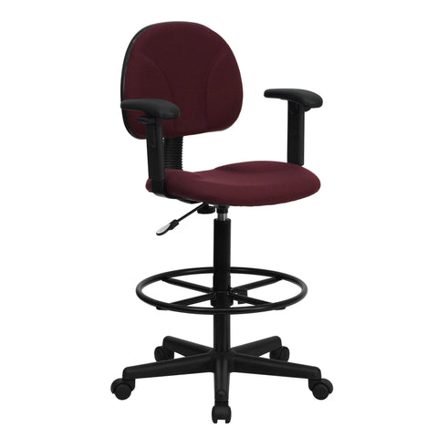 Draft chairs are essential for any profession where work surfaces are above standard height, such as lab technicians, architects, graphic artists, or any other creative assignment. They can also make a great chair for any job requiring employees to be at eye contact level with customers, such as receptionists or cashiers. This chair was designed to support the lower-to-mid back region. Chair easily swivels 360 degrees to get the maximum use of your workspace without strain. The pneumatic adjustment lever wi