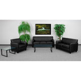 OfficeChairCity.com - Reception Furniture, Black Leather Sofa, Hercules Flash Furniture