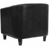 Black Leather Lounge Chair - OfficeChairCity.com
