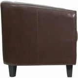 Brown Leather Lounge Chair - OfficeChairCity.com
