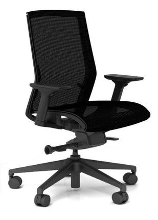 Zilo Black Frame and Mesh Seat Conference Task Chair - OfficeChairCity.com