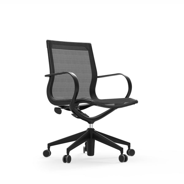 iDesk Curva Mid-Back Mesh Chair with Nylon - OfficeChairCity.com
