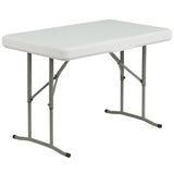 Plastic Folding Table and Benches - OfficeChairCity.com