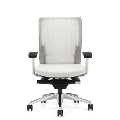 OfficeChairCity.com - Global G20 White Mesh Synchro-Tilter Chair