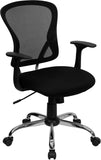 OfficeChairCity.com - Black Mid-Back Office Chairs, Contemporary Mesh Task Chair