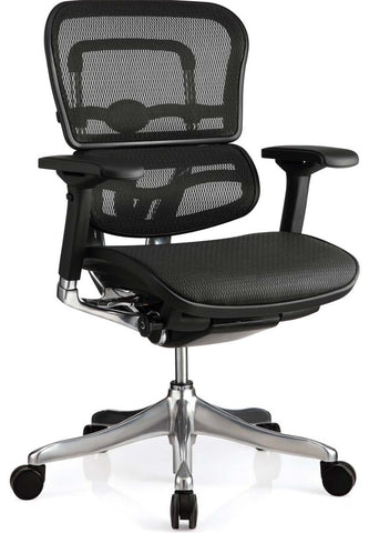 OfficeChairCity.com - Raynor Ergohuman Mid-Back Mesh Chair - Lifetime Factory Warranty