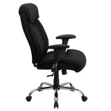 HERCULES Series Big & Tall 400 lb. Rated Black Fabric Executive Swivel Chair with Adjustable Arms - OfficeChairCity.com