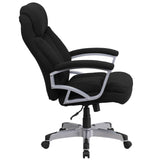 HERCULES Series Big & Tall 500 lb. Rated Black Fabric Executive Swivel Chair with Arms - OfficeChairCity.com
