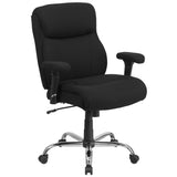 Big & Tall office chairs are designed to accommodate larger and taller body types. This chair has been tested to hold a capacity of up to 400 lbs., offering a broader seat and back width. A mid-back office chair offers support to the mid-to-upper back region. This office chair features plenty of thick, plush padding to provide greater support. The waterfall front seat edge removes pressure from the lower legs and improves circulation. Chair easily swivels 360 degrees to get the maximum use of your workspace