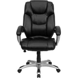 High Back Black Leather Executive Swivel Chair - OfficeChairCity.com