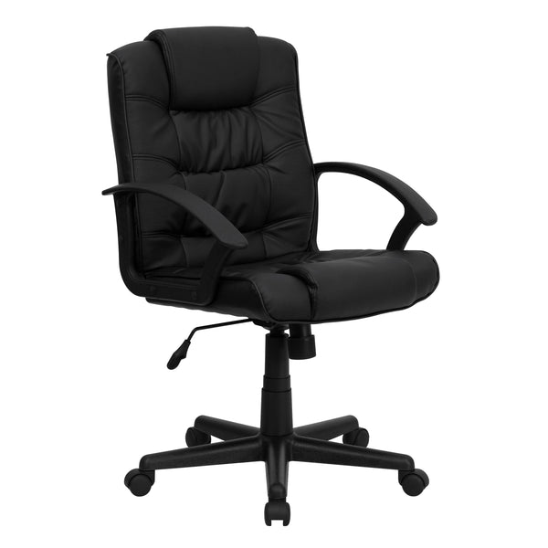 From behind the desk to the meeting room this chair can provide a seamless addition to your work space. A mid-back office chair offers support to the mid-to-upper back region. Chair easily swivels 360 degrees to get the maximum use of your workspace without strain. The pneumatic adjustment lever will allow you to easily adjust the seat to your desired height. This computer chair will make a great chair for the office or in the home.