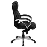 High Back Black Leather Contemporary Executive Swivel Chair - OfficeChairCity.com