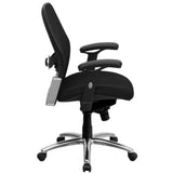 Mid-Back Black Super Mesh Executive Swivel Chair with Knee Tilt Control and Adjustable Arms - OfficeChairCity.com