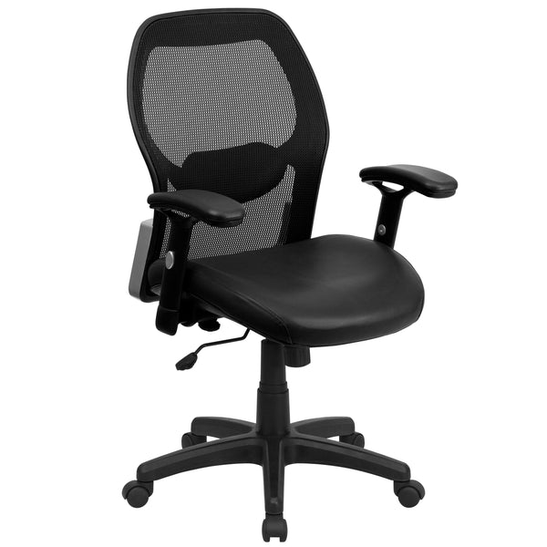 Mesh office chairs can keep you more productive throughout your work day with its comfort and ventilated design. The breathable mesh material allows air to circulate to keep you cool while sitting. The mid-back design offers support to the mid-to-upper back region. From behind the desk to the meeting room this chair can provide a seamless addition to your work space. The waterfall front seat edge removes pressure from the lower legs and improves circulation. Chair easily swivels 360 degrees to get the maxim