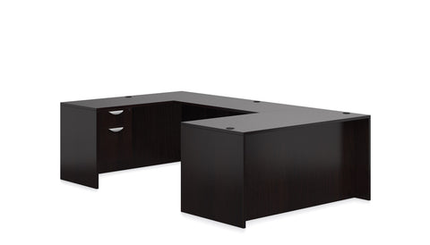 OfficeChairCity.com - Executive U Desk with File Pedestals