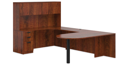 OfficeChairCity.com - L-Shaped Desk With Hutch