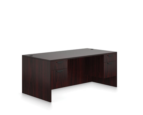 "OfficeChairCity.com - 66"" Double Pedestal Desk"