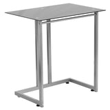 Black Tempered Glass Computer Desk - OfficeChairCity.com