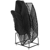HERCULES Series 880 lb. Capacity Black Ultra Compact Stack Chair with Black Frame - OfficeChairCity.com