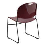 HERCULES Series 880 lb. Capacity Burgundy Ultra Compact Stack Chair with Black Frame - OfficeChairCity.com