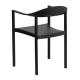 HERCULES Series 1000 lb. Capacity Black Plastic Cafe Stack Chair - OfficeChairCity.com
