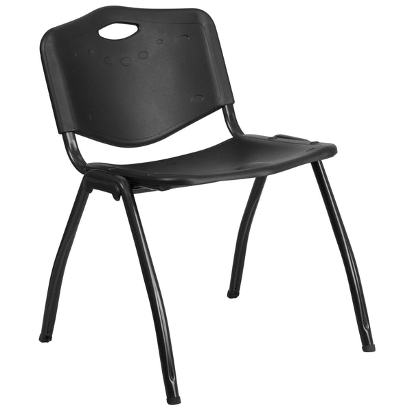 When in need of a space-saving seating solution that is either permanent or temporary, stack chairs have been proven to be beneficial. Stack chairs are a popular choice for many businesses that include hotels, schools, restaurants, cafeterias, and offices. This industrial looking chair hits the mark on comfort. This chair features a carrying handle to easily transport. This versatile chair is ideal for both indoor and outdoor functions. With the ability to quickly store the chairs, it allows for the space t
