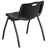 HERCULES Series 880 lb. Capacity Black Plastic Stack Chair - OfficeChairCity.com
