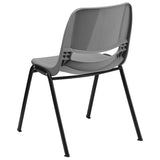 HERCULES Series 880 lb. Capacity Gray Ergonomic Shell Stack Chair - OfficeChairCity.com