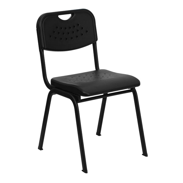 This stack chair is essential for classroom settings from high school to adult education. This chair also conforms to environments in the home for studying. With the ability to quickly store the chairs, it allows for the space to be used again for other purposes or when cleaning is needed. This heavy duty plastic stack chair is sturdy in construction to withstand regular use and frequent stacking. To make transporting even easier, equip yourself with the appropriate sized stack chair dolly.