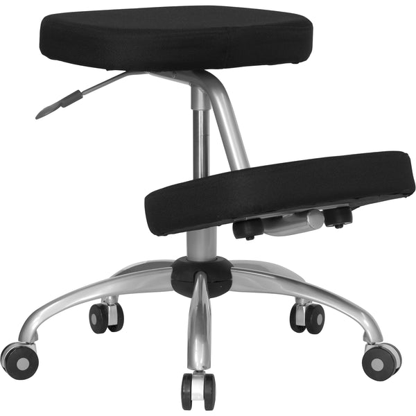 Reduce the pressure from long term sitting and choose an ergonomic kneeling chair that is both comfortable and healthy for your body. Kneeling chairs sit you in a position to allow your diaphragm to move efficiently and promote better breathing and blood circulation. This dual use mobile chair can be used as a kneeling chair and as a backless stool. Use as your permanent office chair or in conjunction with a conventional task or executive office chair.