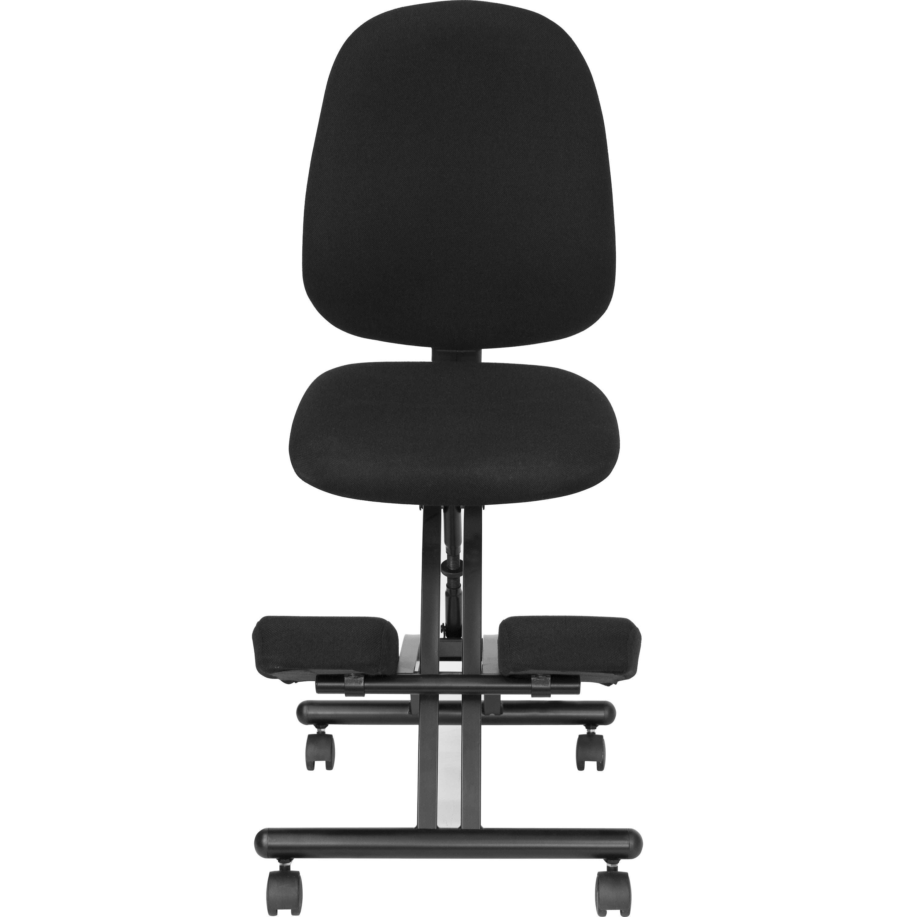 Band posture chair - Mobile Ergonomic Kneeling Posture Chair With Back In Black Fabric