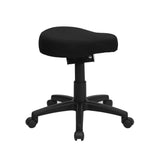 Black Saddle-Seat Utility Stool with Height and Angle Adjustment - OfficeChairCity.com