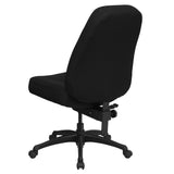 HERCULES Series 400 lb. Rated High Back Big & Tall Black Fabric Executive Swivel Chair - OfficeChairCity.com