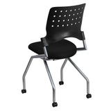 Galaxy Mobile Nesting Chair with Black Fabric Seat - OfficeChairCity.com