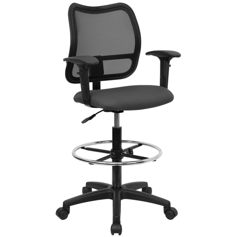Draft chairs are essential for any profession where work surfaces are above standard height, such as lab technicians, architects, graphic artists, or any other creative assignment. They can also make a great chair for any job requiring employees to be at eye contact level with customers, such as receptionists or cashiers. The contoured backrest provides firm back support allowing your back to rest comfortably. Chair easily swivels 360 degrees to get the maximum use of your workspace without strain. The pneu