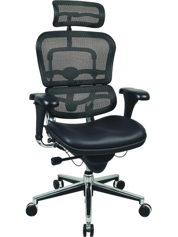 OfficeChairCity.com - High Back Leather Chair, Raynor Ergohuman Ergonomic Chair