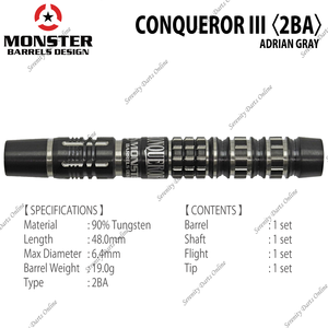 【MONSTER】CONQUEROR III Adrian Gray Model 2BA 21g - Mydarts