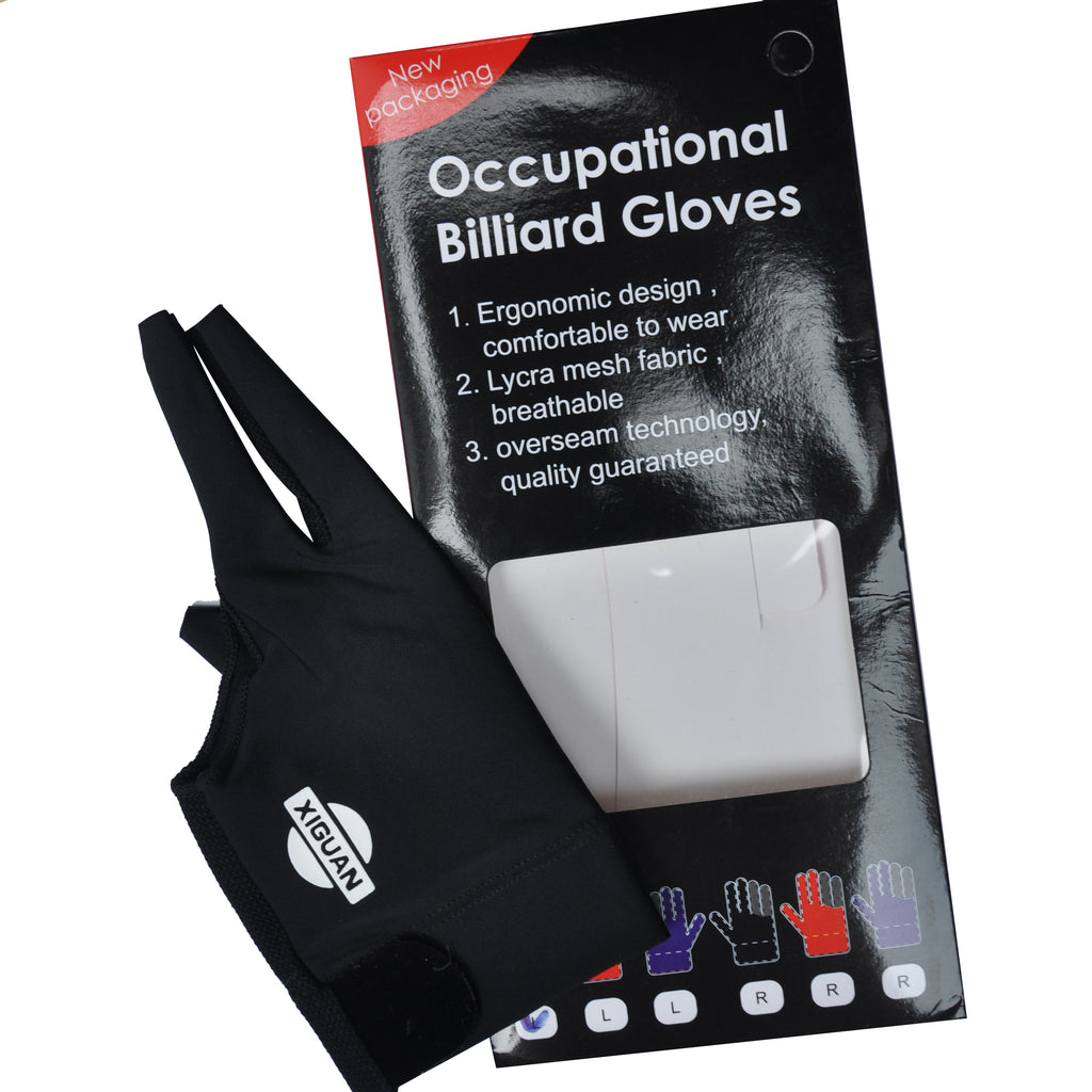 【Xiguan】HAND GLOVE - Occupational Billiard Gloves Left Hand/ L size_Black