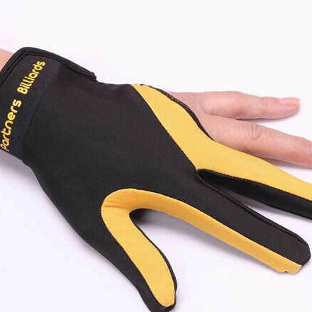 【Partners Billiards】HAND GLOVE  - Left Hand/ L size _ Yellow & Black