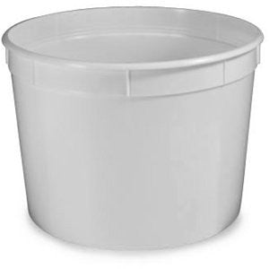 Container, Multi Purpose, 16oz (480mL), Separate Snap Lid, White