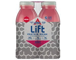 Atkins Lift Berry Protein Drink Flavour Berry- 4 Ct Pack of 1