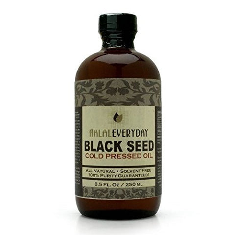 8 oz Pure Black Seed Oil - Cold Pressed in the USA from imported Black Seed (Nigella sativa) - Ships in an Amber Glass Bottle - NON GMO Vegan - Halal