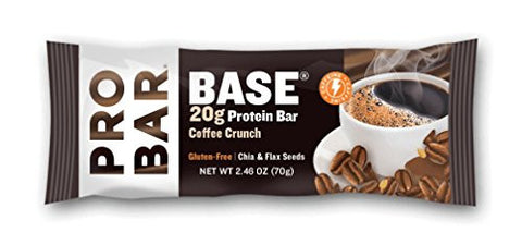 PROBAR BASE Protein Bar, Coffee Crunch, 2.46 Ounce, 12 Count