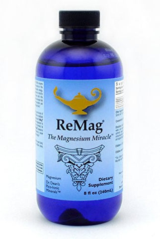 ReMag Pico-Ionic Liquid Magnesium by RnA ReSet. Formulated by Dr. Carolyn Dean for Complete Absorption, No Laxative Effect. Experience The Magnesium Miracle. 8 fl oz