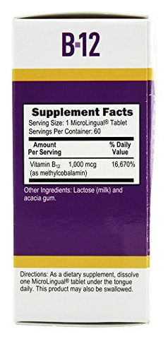 Superior Source No Shot Methylcobalamin B12 Multivitamin, 1,000 Mcg, 60  Count