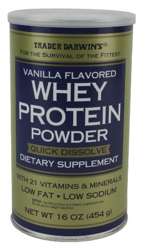 Trader Darwin's Whey Protein Power Dietary Supplement, 16oz (454g) (Vanilla)