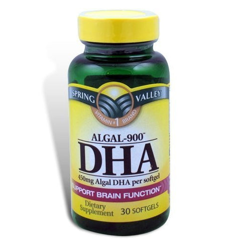 Spring Valley - ALGAL-900, DHA 450 mg, 30 Softgels by Spring Valley