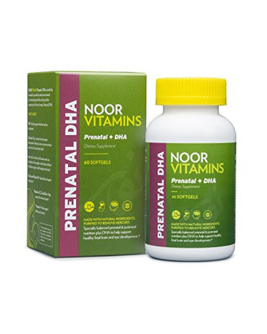 NoorVitamins Prenatal with DHA - 60 Softgels - Halal Vitamins