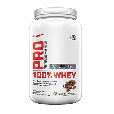 GNC Pro Performance 100 Whey Natural Chocolate 2.11 lbs.